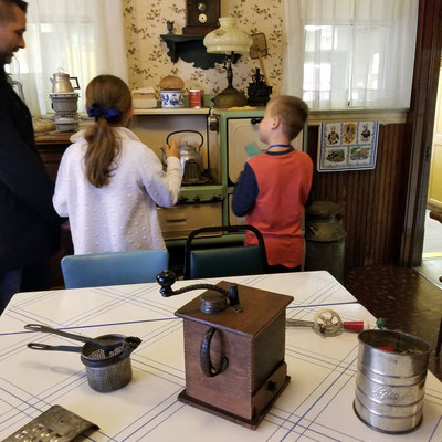The original Kitchen was used by Dirk and Leuntje Dekker in the late 1800s.  (photo by Debbie)