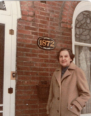 Historic Zeeland Plaque - March 18, 1982 || Ruth Baron at the Baron Home at S. Church Street