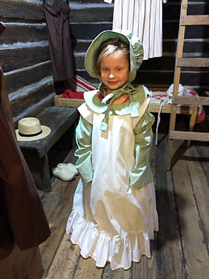 TRY ON PIONEER CLOTHES :: photo by Arlene Steenwyk