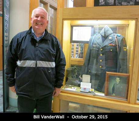 Artifacts on loan from Bill VanderWall, Bronze Star recipient