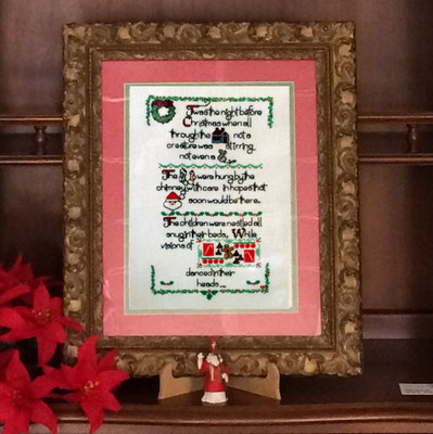 'Twas the Night Before Christmas in needlework