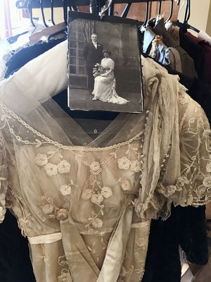 An original wedding dress and photograph