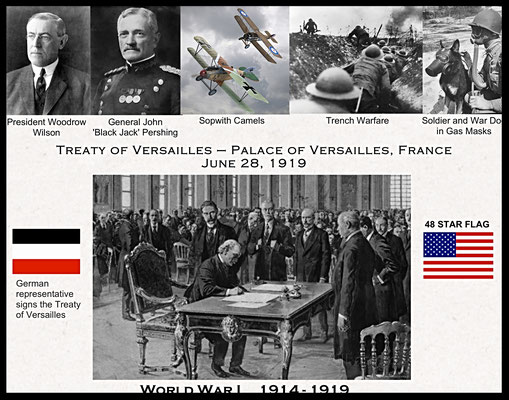 NORTH WALL - Uniform Display Case - World War I :: SURRENDER LOCATION - Palace of Versailles, France; DATE - June 28, 1919