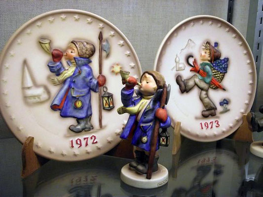 This 1972 Hummel plate was given to Frances Baron of Zeeland, starting her collection of the flatware and figurines. Jim Hayden/Sentinel staff