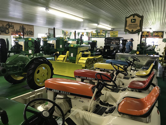 Main gallery of John Deere tractors (photo by Susan)