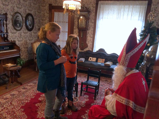 Sinterklaas lives in Madrid, Spain, and every year he visits a different city or town in The Netherlands.