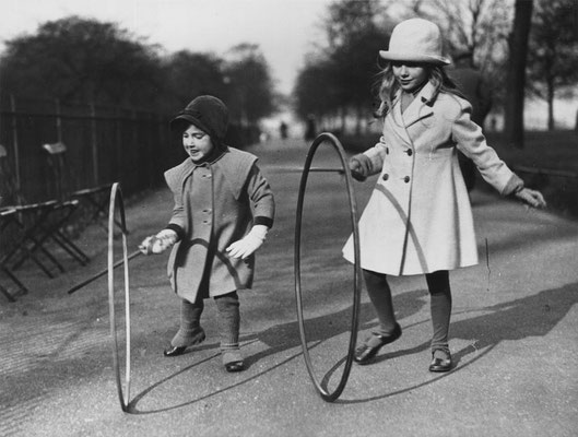 "Our ""hoola-hoop"" is from an old game called ""Hoop Rolling"" [internet photo]"