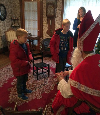 If the children leave some hay and carrots in their shoes for Sinterklaas's horse, they will be left some sweets or small presents.