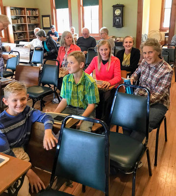Janet Schoettle with four of her grandchildren