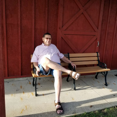 Volunteer Ken K. takes a break.