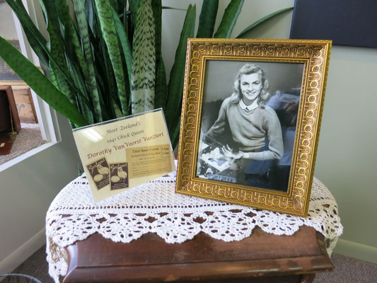 "Dorothy Van Voorst, a 16-year-old Zeeland High School junior, was voted ""Chick Queen"" in 1941   [photo by Susan]"