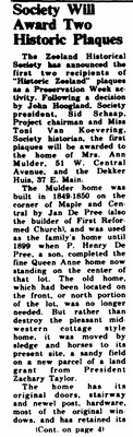 CLICK TO ENLARGE - The Zeeland Record, May 15, 1980, Page 1