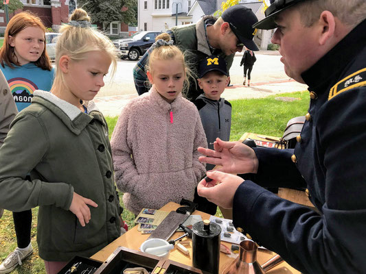 Soldier describes how a surgical bullet probe was used during the Civil War (photo by Susan)