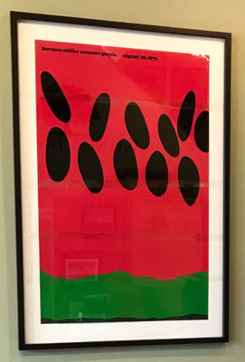 "The children studied the ""Watermelon"" poster, which was designed in 1971 for the Herman Miller annual picnic."