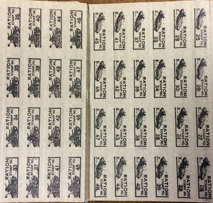 War Ration Book 3 stamps