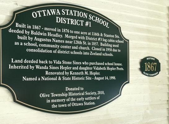 Ottawa Station Schoolhouse - 11611 Stanton Street, West Olive