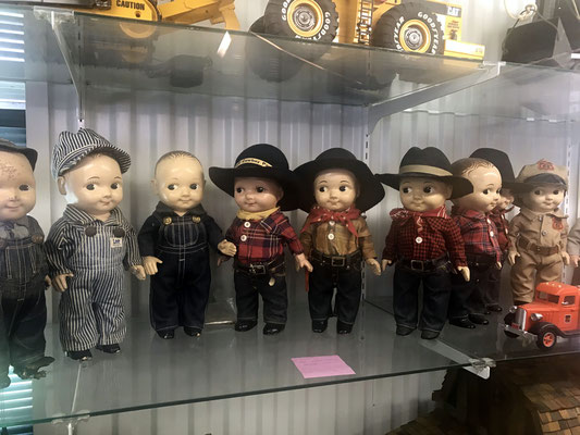 Buddy Lee was an advertising mascot for Lee Jeans. The doll was a promotional item for the company from 1920 to 1962. (photo by Susan)