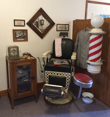 The barber shop moved to where the clocks had been located.