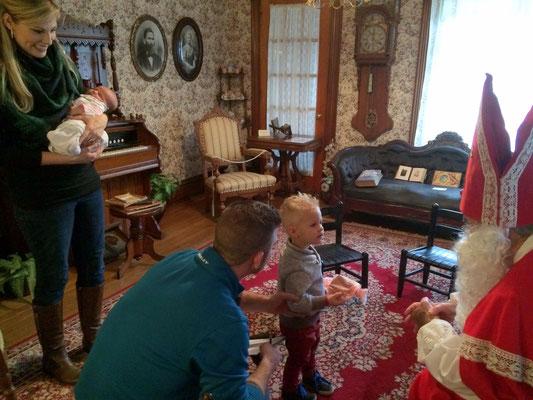 Children as young as two weeks old visit Sinterklaas.