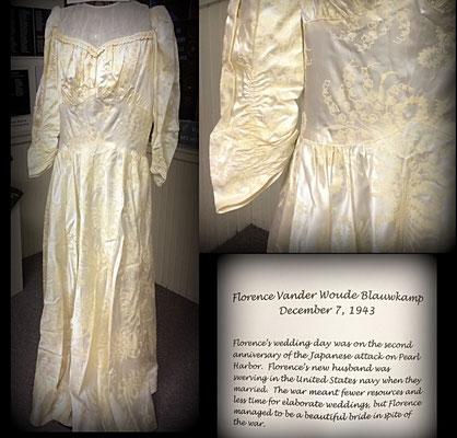 Dress worn by Florence (Vander Woude) Blauwkamp - 1943