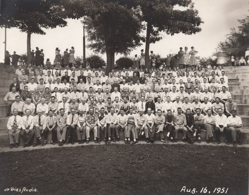 The first Herman Miller Picnic - August 16, 1951 (Zeeland Historical Photo Archives)