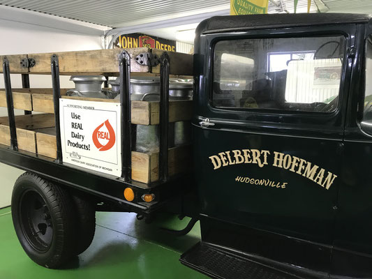 "1930's milk truck in the museum - This truck made a cameo appearance in the movie, ""Return to the Hiding Place (2013)"" (photo by Susan)"