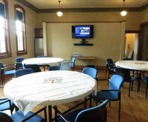 The New Groningen Schoolhouse is a great location for business meetings, family celebrations, open houses, and more