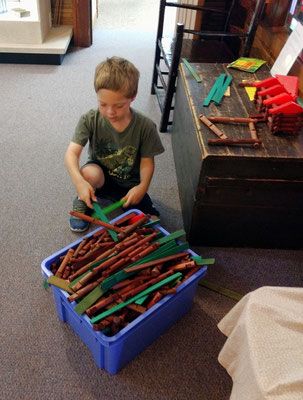 Let's make a pioneer cabin using Lincoln Logs!  ** THE END **