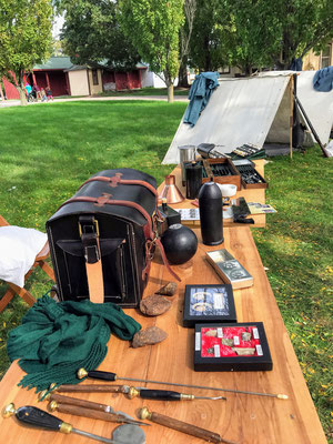 Collection of Civil War artifacts (photo by Susan)