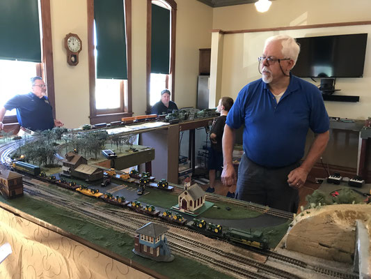 Members of the Holland Modular Railroad Club (photo by Susan)