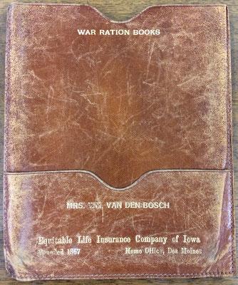 War Ration Book 3 - book holder for Mrs. Wm. Van Den Bosch