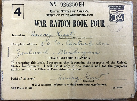 War Ration Book 4 - Henry Kuit