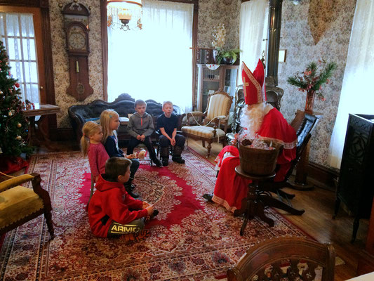 Children hear about Dutch traditions in the Netherlands ::photo by Susan Norder