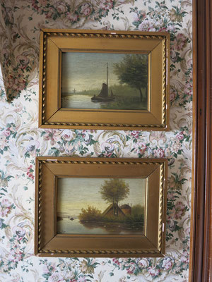 These two Dutch landscapes are over 100-years old. Both are signed originals.
