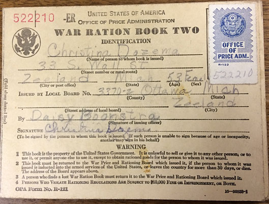 War Ration Book 2 - Christina Dozema