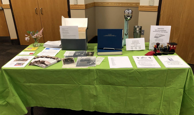 Zeeland Historical Society's information table (photo by Jim Heyl)