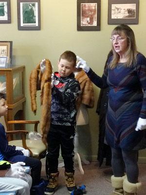 Miss Debbie explains how ladies used this vintage Mink / Fox collar.