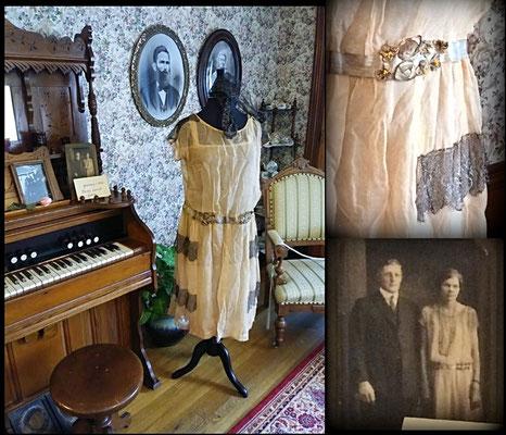 Dress worn by Daisy (Levitt) Yskes - 1925 (photo by Arlene)
