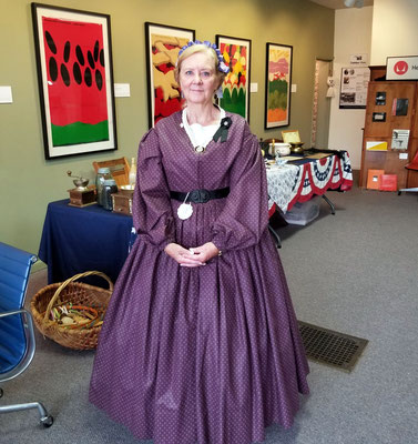 Cherrie Weener, the 3rd Michigan's liaison (photo by Debbie)