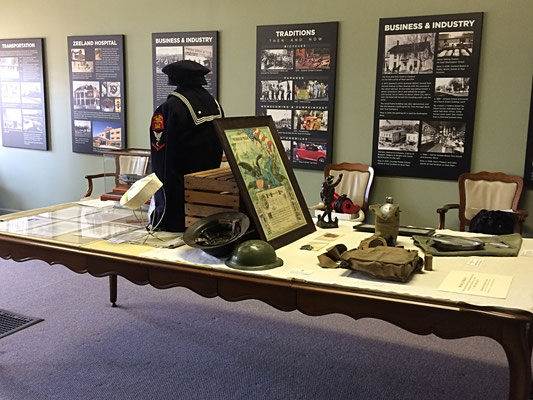 This temporary display is located in the gallery on the main floor of the museum.