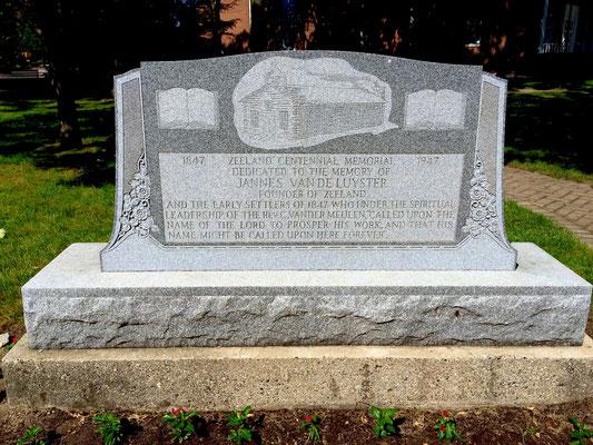 Closeup of the 1947 Vande Luyster Memorial