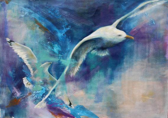 Freiheit 2017, Öl auf Leinwand, 50 cm x 70 cm