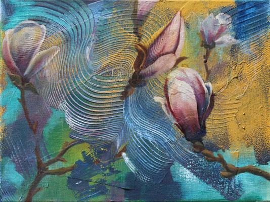 Frühling II 2019, Öl auf Leinwand, 30 cm x 40 cm