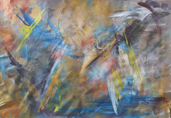 Ohne Titel, 2015, Acryl auf Papier, 70 x 100cm