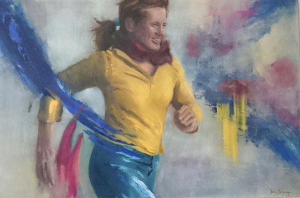 Ohne Titel, 2016, Öl und Acryl auf Leinwand, 50 x 70 cm (verkauft)