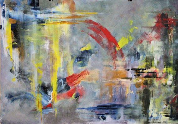 Stille 2015, Acryl auf Papier, 70cm x 100cm