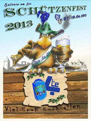 Flyer zum Schützenfest 2013