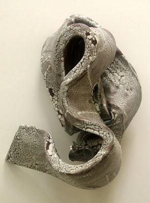 Skulptur, Steinzeug, Mehrfachbrand, 1230°C/1050°C, 40×17×22, 2. Ansicht