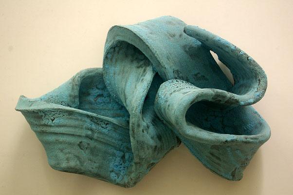 Skulptur, Steinzeug, Mehrfachbrand, 1230°C/1050°C, 42×30×19, 1. Ansicht