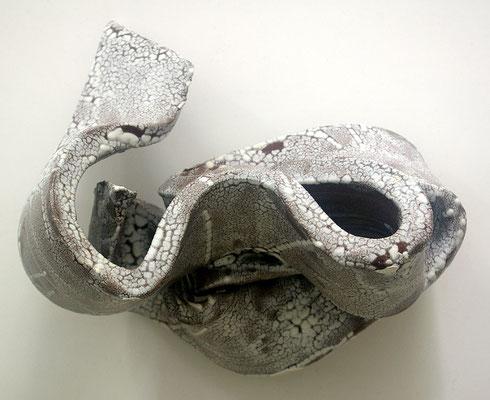 Skulptur, Steinzeug, Mehrfachbrand, 1230°C/1050°C, 40×17×22, 1. Ansicht